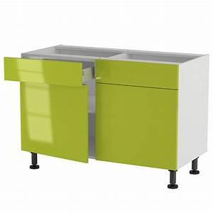 Meuble Bas Cuisine 120 Cm : meuble cuisine bas 120cm 2 tiroirs portes 60 70 achat ~ Dode.kayakingforconservation.com Idées de Décoration