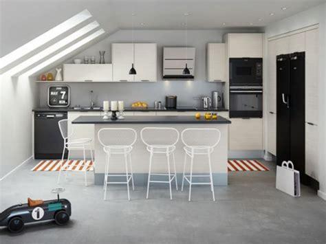 tabouret de cuisine pas cher ilot central cuisine gris cuisine en image