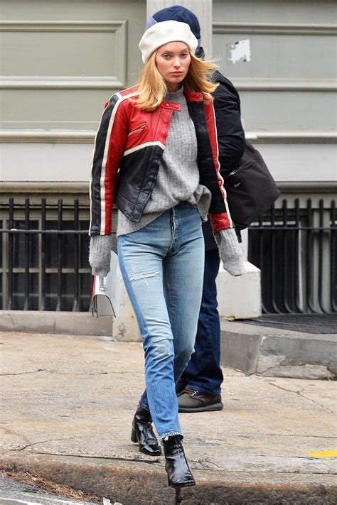 Elsa Hosk Wears a Ripped Jeans and Black Boots Out in NYC 02/16/2018 u2013 celebsla.com