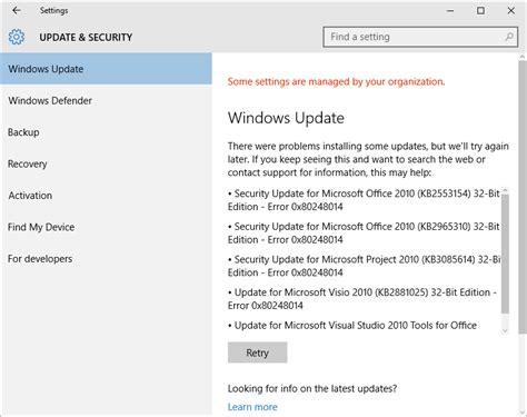 windows update error 0x80248014