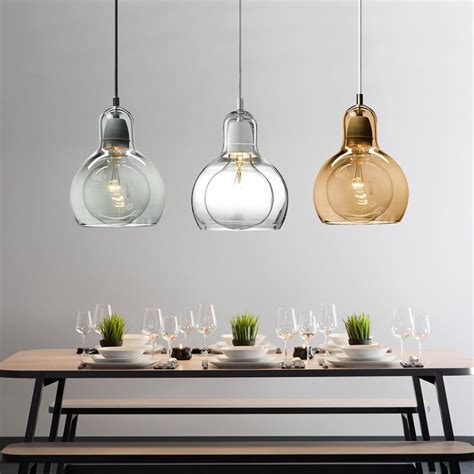 buy modern globe glass pendant light