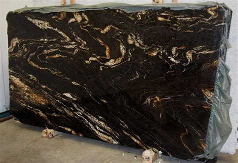 titanium gold granite slab sold by milestone marble size
