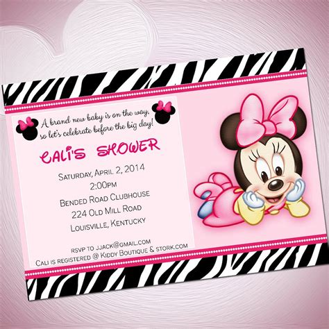 minnie mouse baby shower invitations city baby minnie mouse template invitations