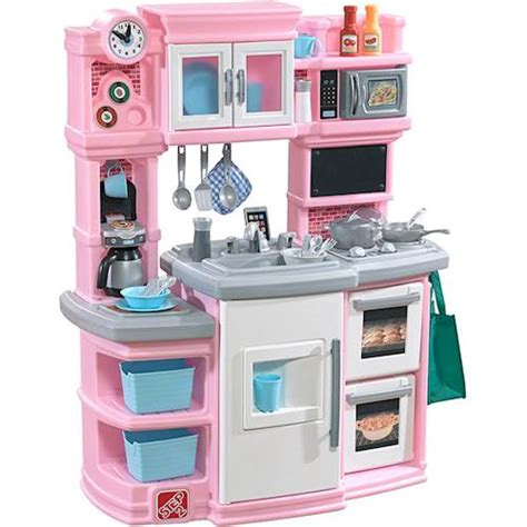 Kitchen Play Set by Step2 Great Gourmet Kitchen Play Set Light Pink 488900