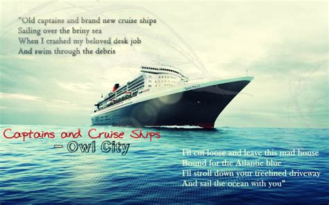 Captains And Cruise Ships - Owl City By Jayplay17 On DeviantArt