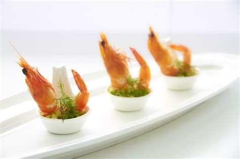 canape cina prawn in spoon canape canapes