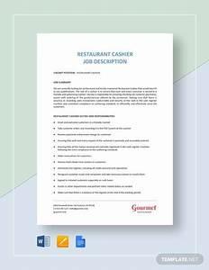 Cashier Job Description Sample Free 11 Sample Cashier Job Descriptions In Pdf Ms Word
