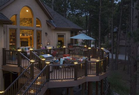 outdoor deck lighting deck lights create ambiance for your deck outdoor living inc