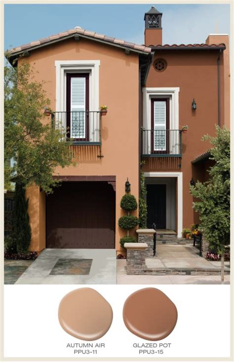 Terracotta Farbe Wand by Color Of The Month Terracotta Pitched Roof House