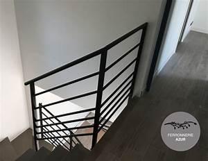 Garde Corps Escalier Fer Forgé : rampe escalier et garde corps metal fer ferronnerie nice 06 ~ Nature-et-papiers.com Idées de Décoration