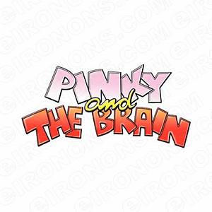 PINKY AND THE BRAIN LOGO CHARACTER T-SHIRT IRON-ON ...