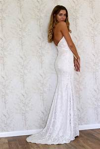lace wedding dress simple bohemian style wedding gown With boho style wedding dresses
