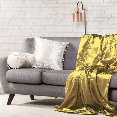 settee throw overs crushed velvet soft throw sofa protector bed spread