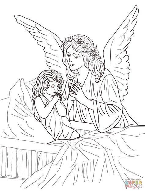guardian angel prayers coloring page  printable coloring pages