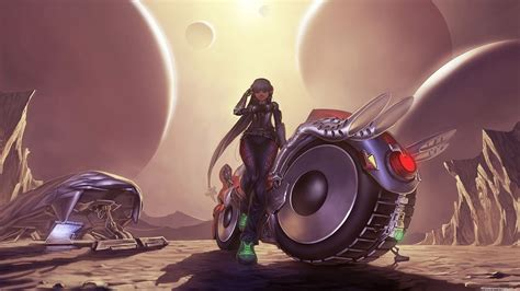 7 Animated Girls And Bikes Wallpapers Hd -o-