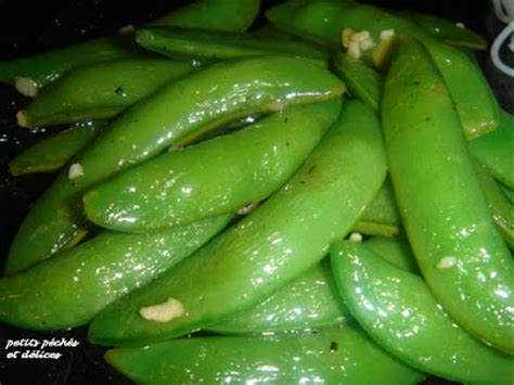 cuisiner des pois gourmand petits péchés et délices pois gourmands sucrés à l 39 ail