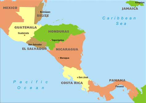 central america map central america political map fun