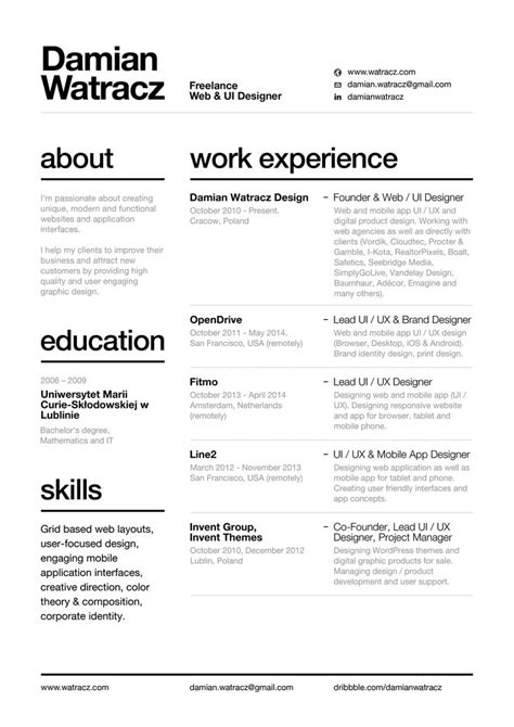 Resume Layout by Using Resume Layout Advice Template Web Design