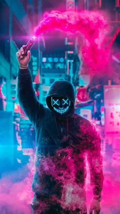 Cool Wallpapers Boys Super Neon Purge Mask