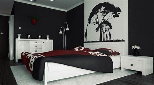 The Walls Are Painted In Black #Red #And #Black #Wall #Painting #Ideas