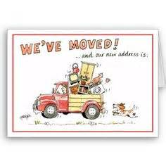 we moved cards template wreath moving announcement card templates just