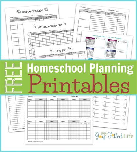 Free Homeschool Planning Printables 201516  Free Homeschool Deals
