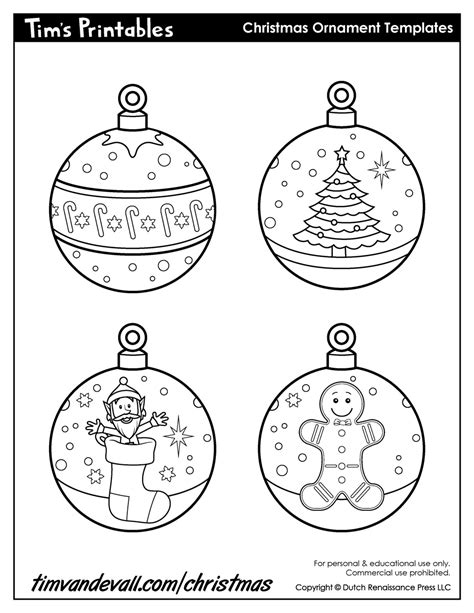 printable christmas ornaments for toddlers free printable ornament templates printables