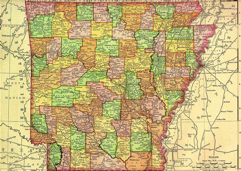 arkansas map  atlas metal detecting treasures