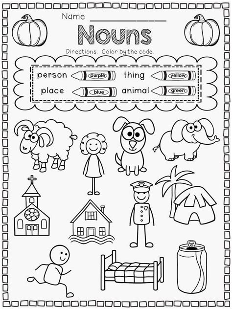 plural noun worksheets for kindergarten noun worksheets