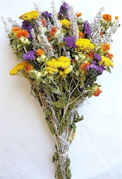 dried flower bouquet yellow bunch wedding flower