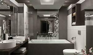 petite salle de bains avec wc 55 idees de meubles et deco With petite salle de bain rectangulaire