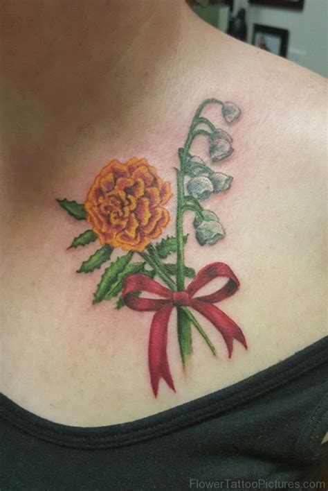 phenomenal marigold flower tattoos