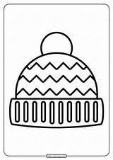 Hat Coloring Winter Printable Pdf Whatsapp Tweet Email sketch template
