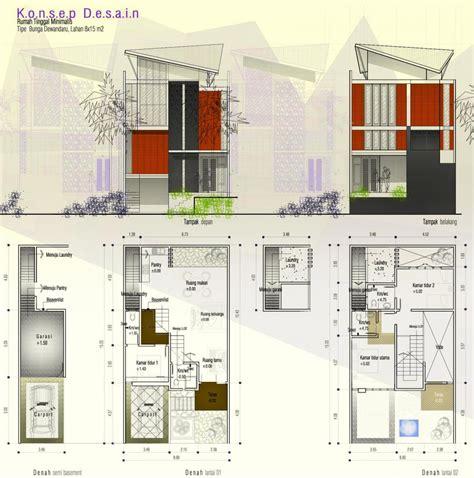desain rumah minimalis semi basement desain rumah