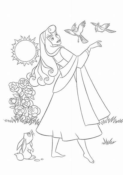 Sleeping Coloring Beauty Pages Disney Princess Printable
