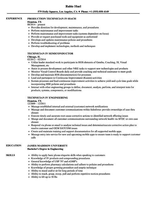 Iv Pharmacy Technician Resume iv technician resume sles velvet