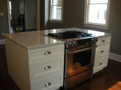 stove in island kitchens downdraft drop in stove in island renovating a historic