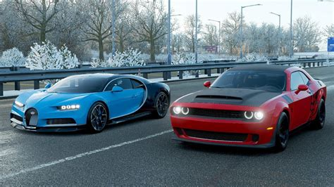 To help you out, here are the top 10 fastest quarter. Forza Horizon 4 Drag race: Bugatti Chiron vs Dodge Demon (Tuned) - YouTube