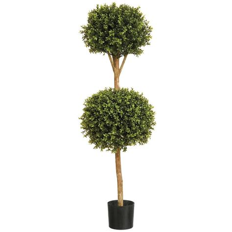 Artificial Buxus Double Ball Tree, outdoor boxwood topiary