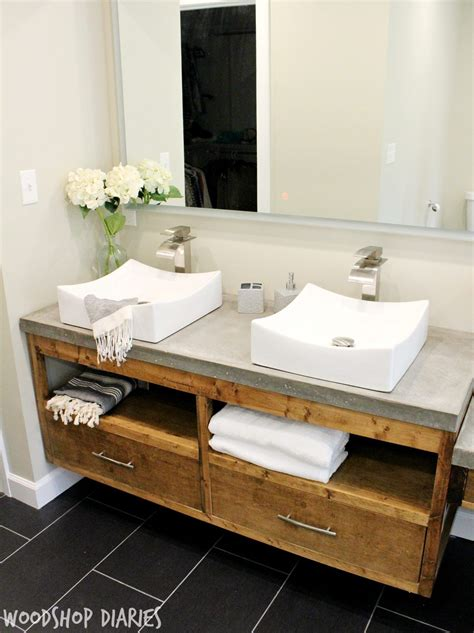 Modern Floating Bathroom Sinks by How To Build A Diy Modern Floating Vanity Or Tv Console