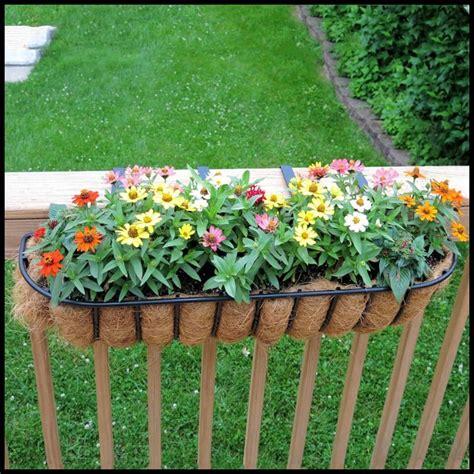 deck rail planter boxes planters  railings hooks