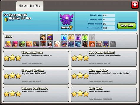 himb just reached level 100 town 9 clashofclans
