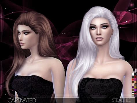 sims  hairs stealthic captivated hairstyle