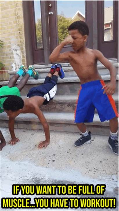 Kid Muscle Gym Workout Today Motivation Marlon