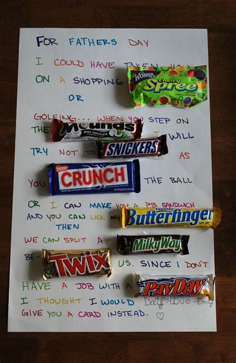 Birthday Wishes Using Candy Bars