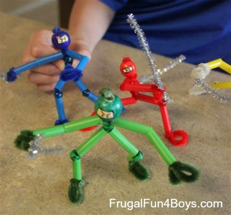 pipe cleaner ninjas fun family crafts