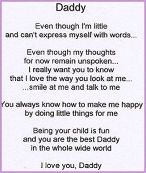 cute baby quotes  pinterest fathers day daddy poems