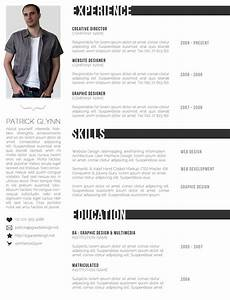 Free creative professional photoshop cv template for Cv template photoshop