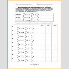 Radioactivity Worksheet Homeschooldressagecom