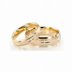 yellow gold diamond cut cross band his and hers set of With gold wedding rings his and hers